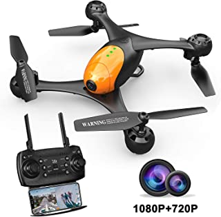 ScharkSpark SS41 Drone with 2 Cameras - 1080P FPV HD Camera/Video and 720P Optical Flow Positioning Camera, RC Toy Quadcopter Equipped with Lost-Control Protection Technology,Altitude Hold