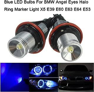 LED azul bulbos para BMW Angel Eyes Halo anillo marcador luz X5 E39 E60 E63 E64 E53