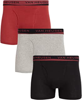 Van Heusen Men's Cotton Boxer Briefs Underwear (3 Pack)