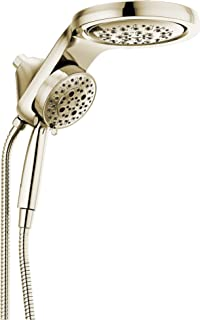 Delta 58680-PN25 HydroRain H2Okinetic 5-Setting Two-in-One, Polished Nickel Head with Hand Shower