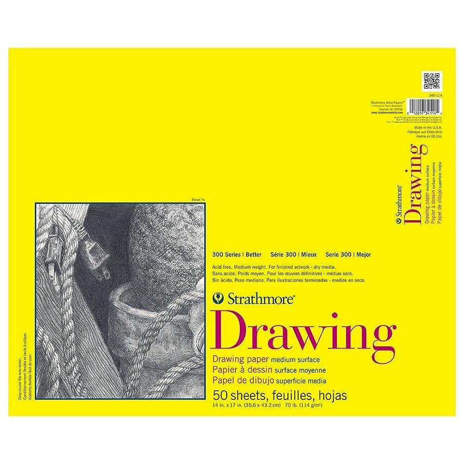 Strathmore 300 Series Drawing Pad, Medium Surface, 14