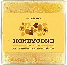 SB Organics Honeycomb - 1LB California Sage Raw Unfiltered Kosher Honey Comb in Gift-Ready Clear Box