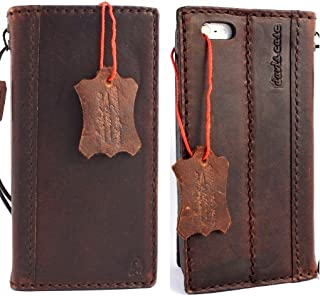 Genuine Natural Leather Handmade Case for Apple Iphone 5 5s S Book Wallet Id Holder Credit cards Slim Daviscase