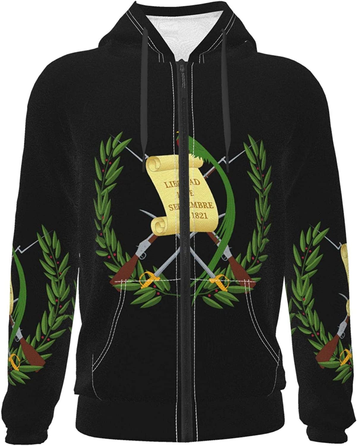 Dispatcher Online Free shipping / New limited product Gold Flag Teen Boys Zipper Girls Po Hooded Sweatshirt