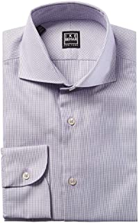 Black Label Panama Weave Cutaway Collar Dress Shirt | Lilac
