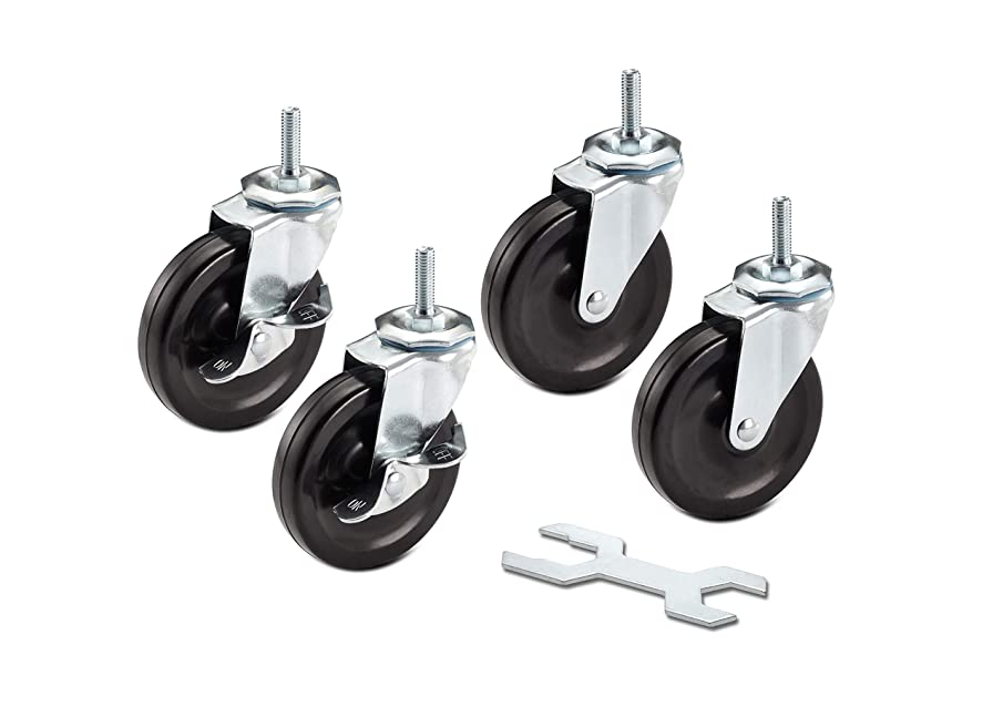 TRINITY ZSV-99-018-4010 Caster Wheels Kit for Wire Shelving, 4 x 1