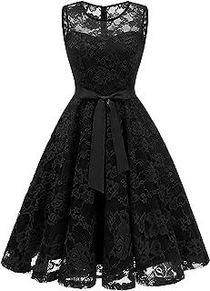 فستان ANCHOVY نسائي لحفلات الكوكتيل المتأرجحة من الدانتيل على شكل حرف A فستان قصير لإشبينة العروس C74