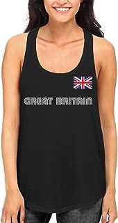 Great Britain Soccer Jersey Women's Racerback Tank Top