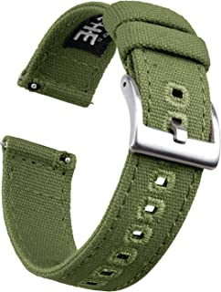 Canvas Quick Release Watch Band 18mm 20mm 22mm Replacement Watch Straps for Men Women