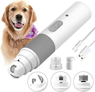 OUDMON Dog Nail Grinder Electric Pet Nail Clippers Quiet Rechargeable Dog Nail Trimmer Cat Paw Painless Nail Tool Animal Nail Grooming Grinding Smoothing