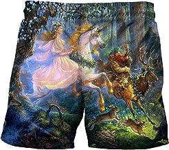 Eenhoorn zwemshorts casual strandshorts Anime Digital Bedrukte badjas Shorts Running Badmode Surfen Shorts