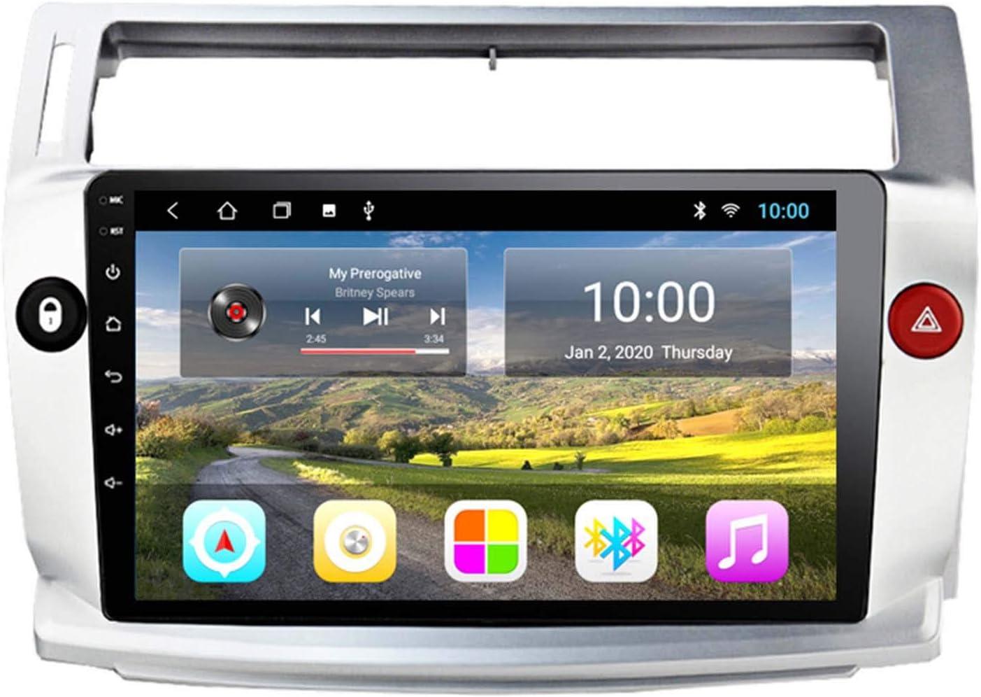 BBGG GPS 2G + 32GB Coche GPS Gran Pantalla De Inversión De Video En Reversión De La Máquina All-in-One para Citroen C4 Sega 04-09 Navegación GPS, Notificación De Voz De Varias Condiciones De Tráfico