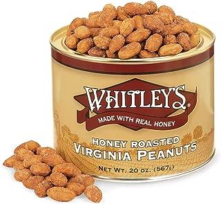 Whitley's Honey Roasted Virginia Peanuts 20 Ounce Tin
