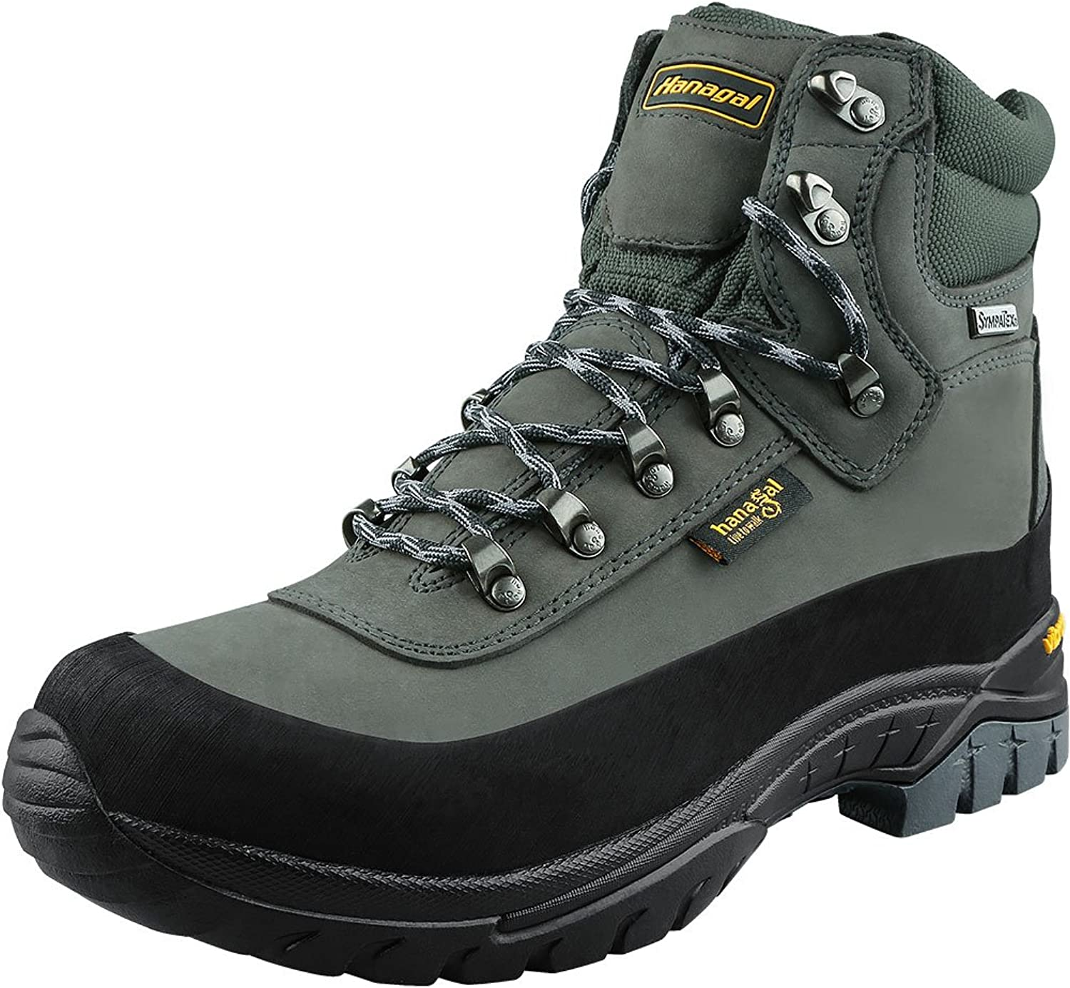 HANAGAL Men's Tangula Waterproof Hiking Boots, Vibram Soles