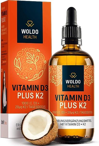 Vitamin D3 K2 drop high dose D-3 1,000 IU K-2 MK7 All-Trans 80μg per daily dose MCT coconut oil 50.00