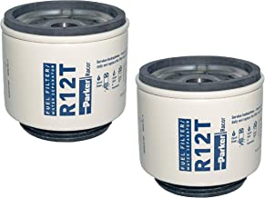 R12T Racor Fuel Filter Water Separator (Pack of 2) 10 Micron Aquabloc, Series 120A, 140R