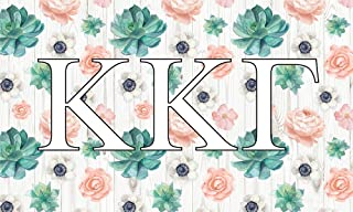 Kappa Kappa Gamma - Sorority Letter Flag (Succulent Design)