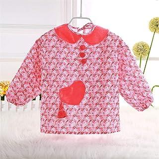 1-3 Years Old Baby Waterproof Bib Dinner Clothes Long Sleeve Bib Children Anti-dressing Bib Unisex Baby Bibs (Color : H, S...