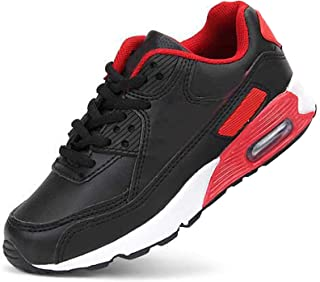 Daclay Enfants Chaussures Garçons Filles Sneakers Running Sneaker Exterieur pour Unisexe, Noir/Rouge, 28 EU