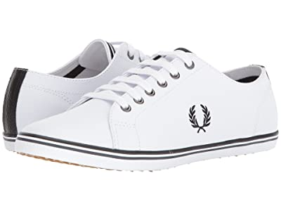 Fred Perry Kingston Leather (White/Black/Charcoal) Men