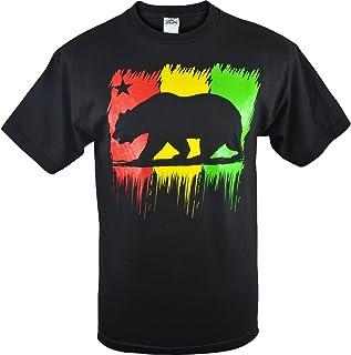 AAA Men`s Rasta California Republic Black Shirt