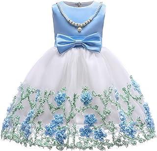 LYQ メッシュ刺繍ガールズドレスメッシュガーゼドレスガールズドレスガーゼ誕生日パーティードレスロングスカートドレス3-9歳の王女のドレス (色 : ライト?ブラウン, サイズ : 150#)