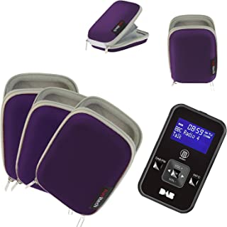 Navitech Portable Purple Hard Water Resistant mp3 / Mini DAB FM Digital Music Player Radio Case/Cover Compatible with The TrekStor i.Beat cebrax