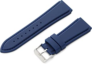 Hadley-Roma Men's MS3346RAG240 Genuine Silicone Diver Sport Watch Strap