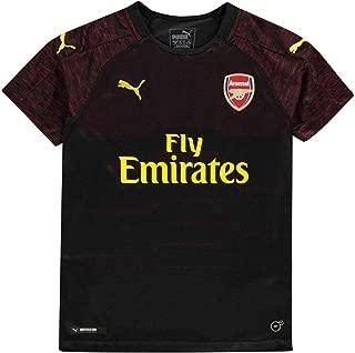 PUMA 2018-2019 Arsenal Home SS Goalkeeper Football Soccer T-Shirt Jersey (Black) Size Medium