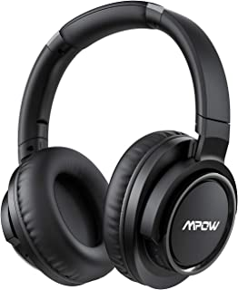 Mpow H18 Active Noise Cancelling Headphones, 50 Hours Playtime Bluetooth Headphones with Hi-Fi Deep Bass, Over Ear Headpho...