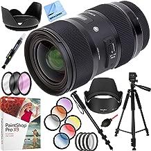 Sigma AF 18-35MM F/1.8 DC HSM ART Lens for Nikon SLR Mount Plus 72mm Filter Sets and Accessories Bundle