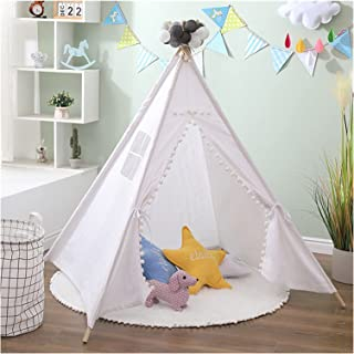 YSJJWDV Teepee tält 1,3 m bärbart barntält Tipi indiskt tält för barn stor baby spielhaus utomhus camping hus barn Tipi sl...