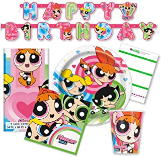 Powerpuff Girls Birthday Party Supplies for 16 Guests