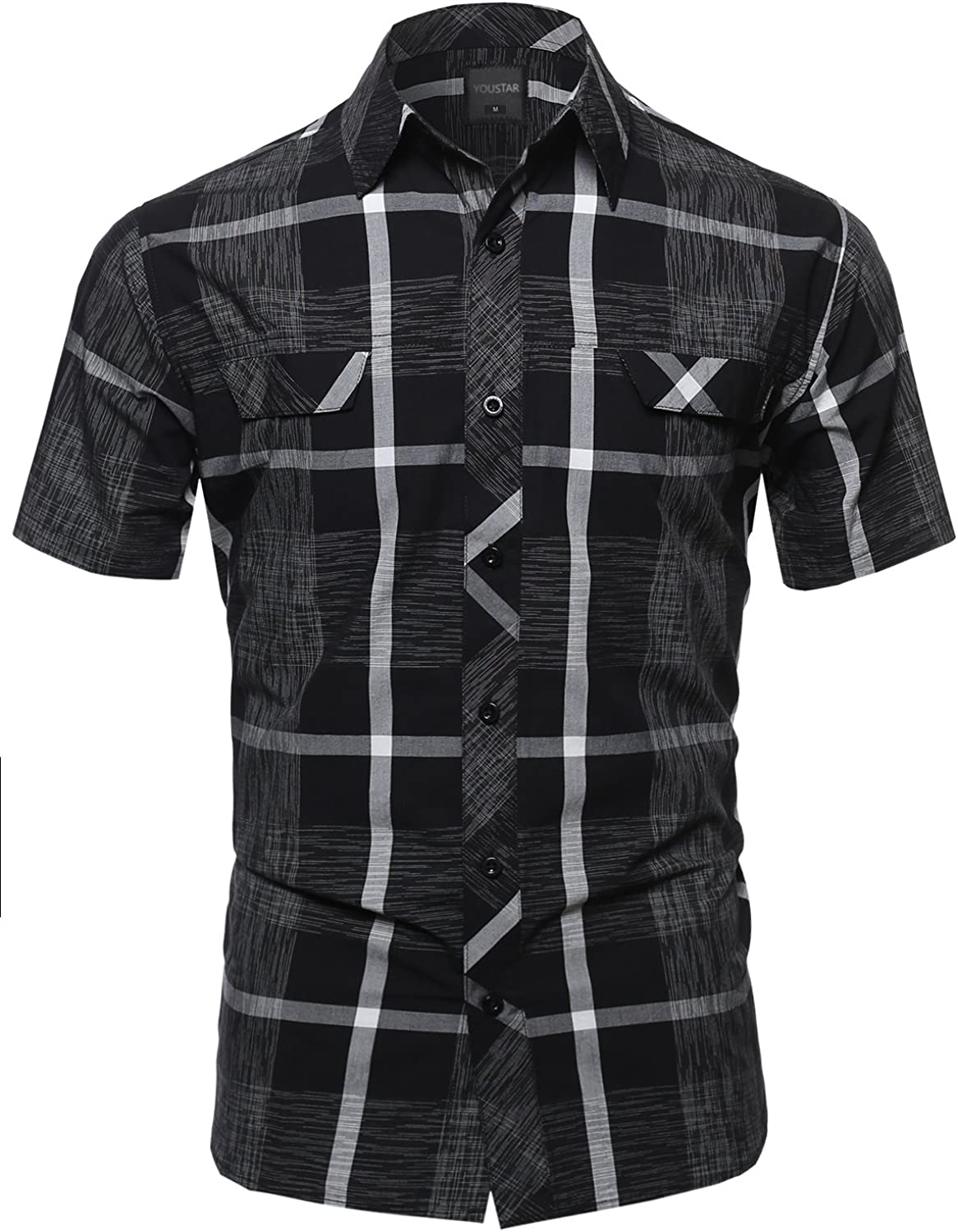 Youstar Men's Short Sleeve Outstanding Button Shirts Down Max 85% OFF