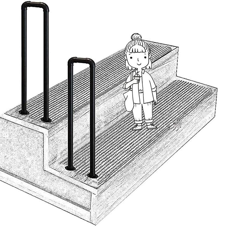大人プランテーション教えU字型トランジション手すり、屋内または屋外高齢者の子供用ロフト廊下安全サポートバー、ヴィラホテルガーデン用(オプションのサイズ)