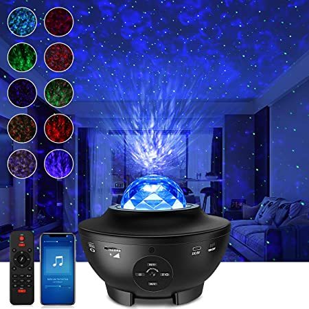 Sternenhimmel Projektor LED Galaxy Light, Starry Projector Light mit Wolken und Sternen, Bluetooth-Lautsprecher Funktion, Galaxy Projektor für Kinder Erwachsene Geschenke