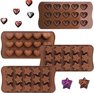 SNY Silikon-Backformen,K/üche Backen Formen Werkzeug,Silikon Pralinenformen,Bonbon Schokoladenformen,Eisw/ürfelform Bl/öcke Kekse Schokoladenform,f/ür Kuchen,S/ü/ßigkeiten,Schokolade