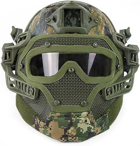 OAREA Tactique Prougeecteur PJ Casque G4 Système GS Masques avec des Lunettes pour Militaire Airsoft Paintball Armée WarGame Chasse
