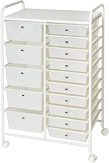 Best white trolley with drawers Reviews