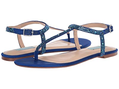 Blue by Betsey Johnson Lux Flat Sandal (Bright Blue) Women