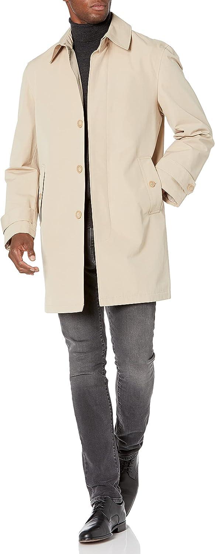 Stacy Adams Men's Cloud Fly Front 36 Inch Length Rain Top Coat