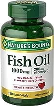 زيت السمكة ناتشور باونتي 1000 مجم أوميجا 3 وأوميغا 6، 120 كبسولة هلامية بدون رائحة (قد تختلف التعبئة)
