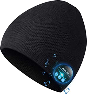 Bluetooth Beanie,Mens Gifts, Bluetooth Hat, Mens Beanie Hat Headphones Beanie, MIC for Hands-Free Call,Music,Running, Skii...