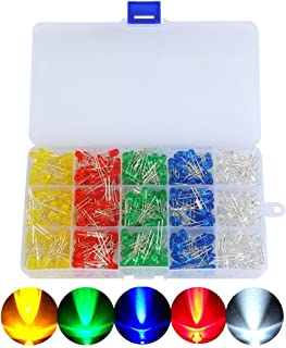 50 Stück Farben Sortiment Kleinlämpchen 3 mm 4 ver