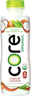 Core Organic Tropical Coconut, 18 Fl Oz (Pack of 12), Fruit Infused Beverage, Vegan/Gluten-Free, Non-GMO, Refreshing Flavo...