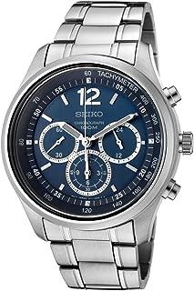 Seiko Men's SRW009 Chronograph Blue Dial Stainless Steel Watch
