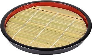パール金属 ざる そば 皿 丸型 竹 すのこ付 匠庵 日本製 H-5281 ブラック