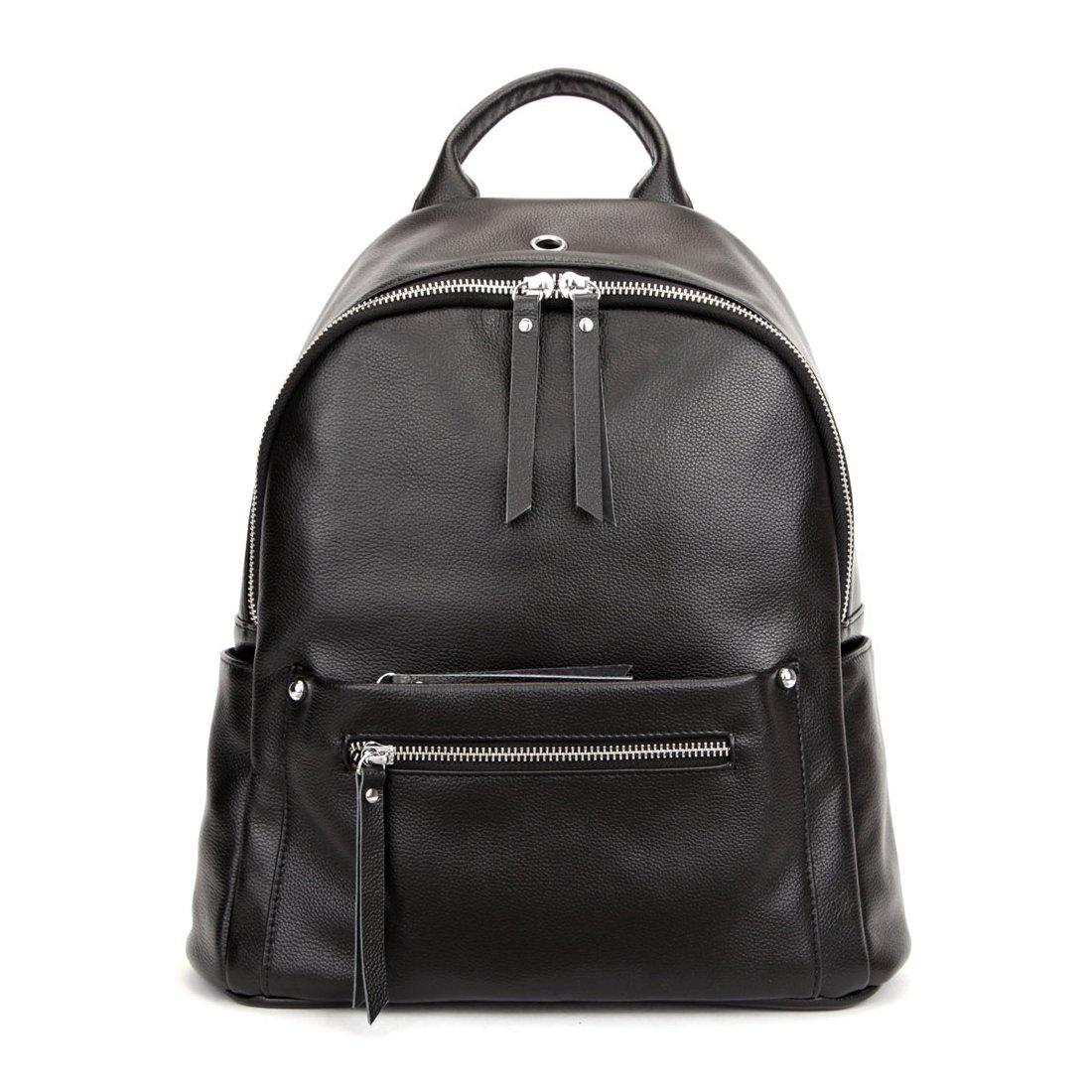 BEIERベル新しいトップレイヤーレザーバックパックトレンドファッションレディースソフトバックパックカジュアル野生実用女性バッグ(yaブラック)