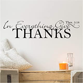 In Everything Give Thanks vinyl wall decal
