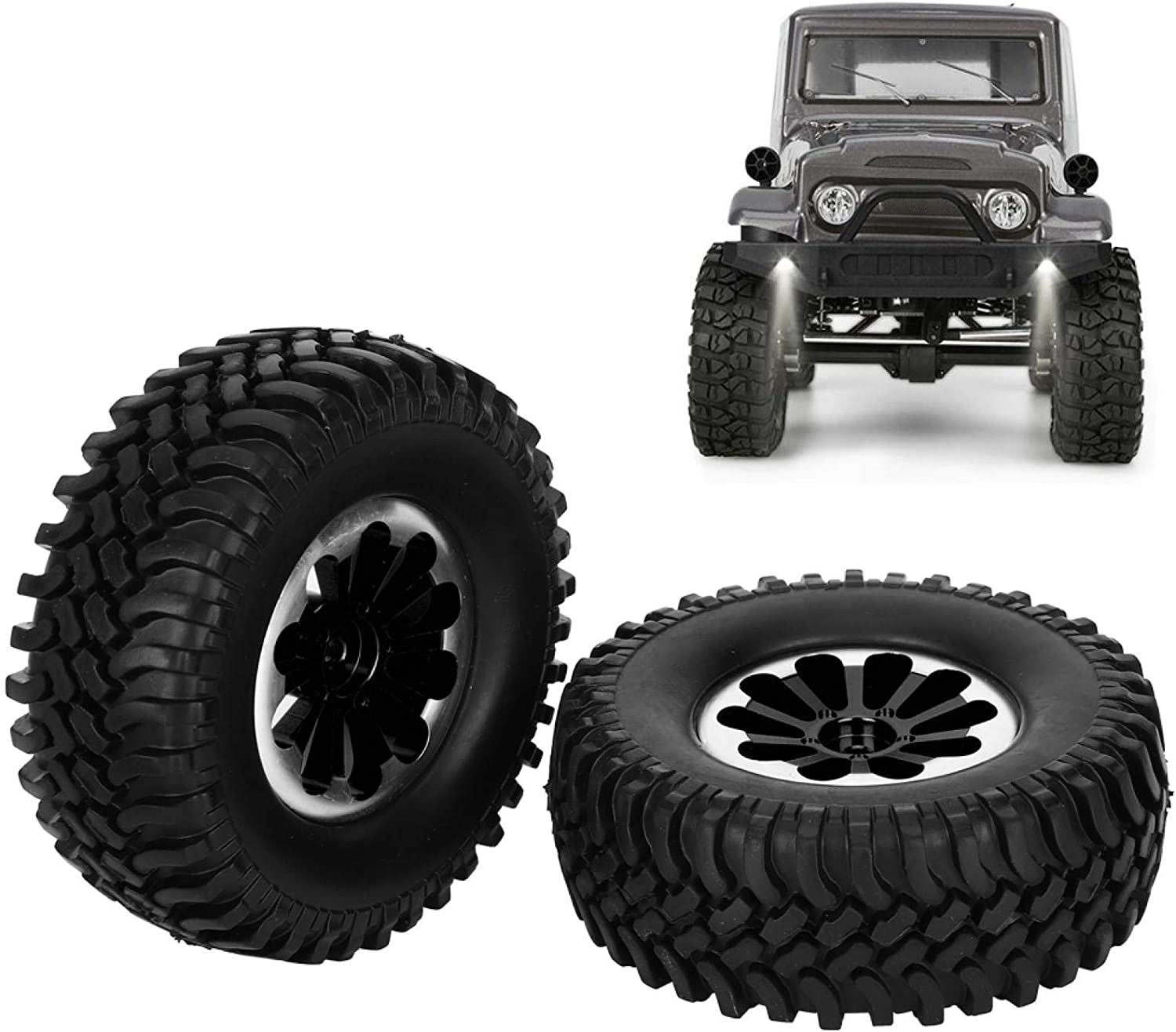 Demeras RC Alloy Tires Set Replacement for RGT 136100 1//10 RC Crawler RC Accessories